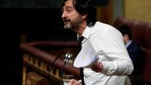 El diputado Rafael Mayoral defendió en febrero el texto alternativo de Unidos Podemos a la 'ley hipotecaria'.