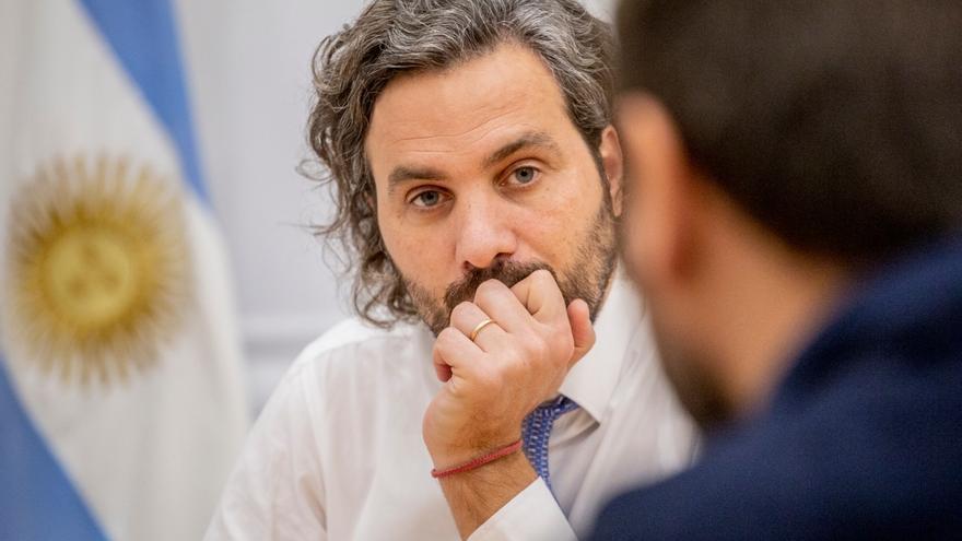 Santiago Cafiero, la noche del viernes, en diálogo con elDiarioAr