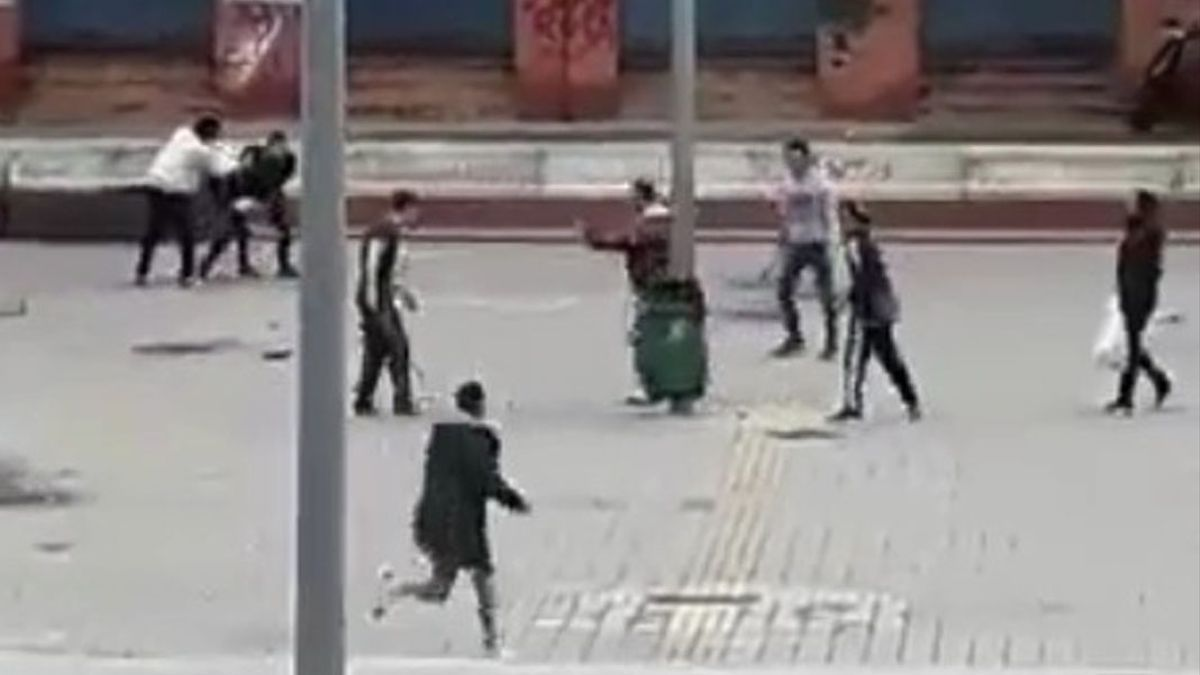 Un detalle del vídeo de la reyerta mortal de Las Moreras