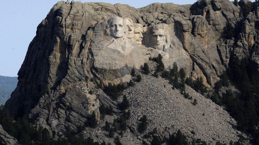 Mount Rushmore, an open wound for indigenous people, awaits Trump