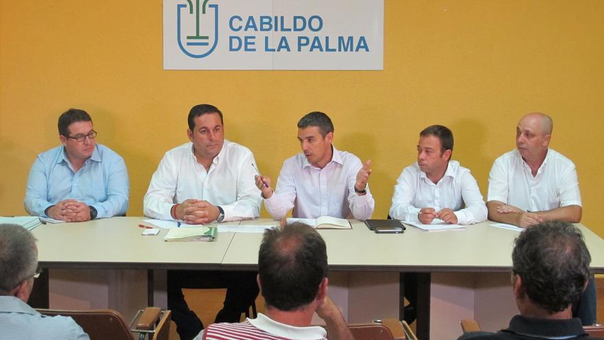 Narvay Quintero (c) este martes en su primera visita a La Palma.