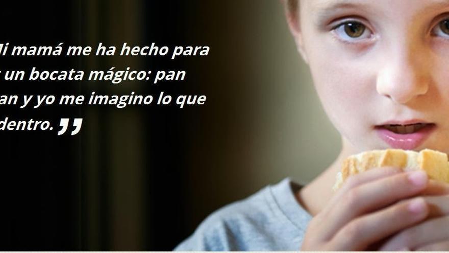 Cartel sobre malnutrición infantil