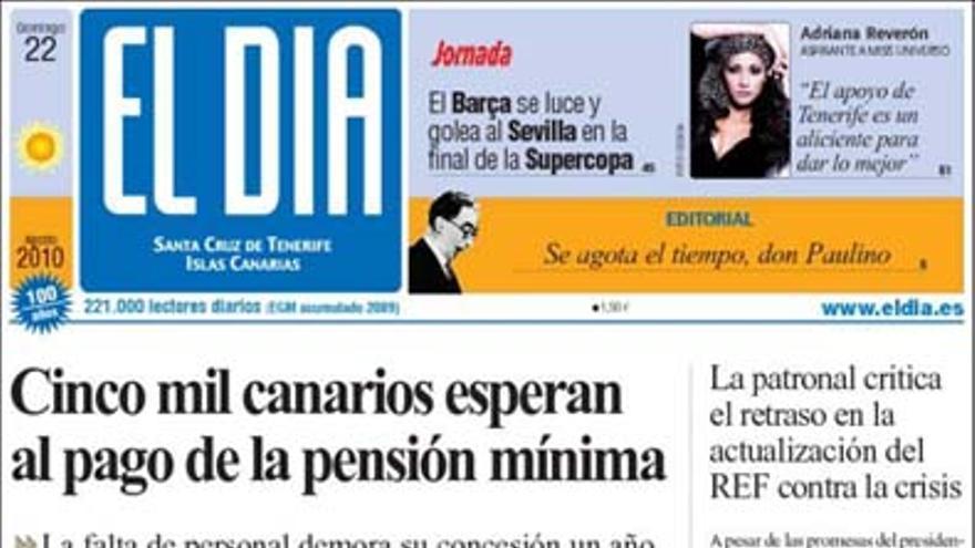 De las portadas del día (22/08/2010) #3