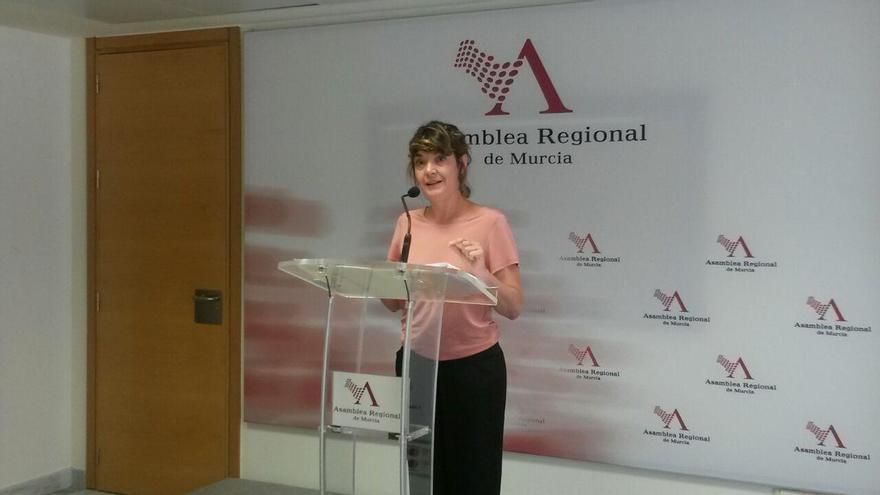 La diputada de Podemos en la Asamblea Regional de Murcia, María Giménez Casalduero