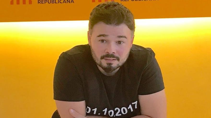 Rufián (ERC) condiciona el apoyo a los Presupuestos a la absolución de los soberanistas presos