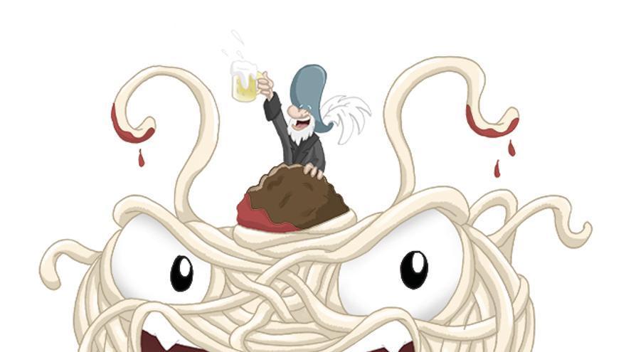 El Monstruo del Espagueti Volador es el dios de los piratas o pastafaris