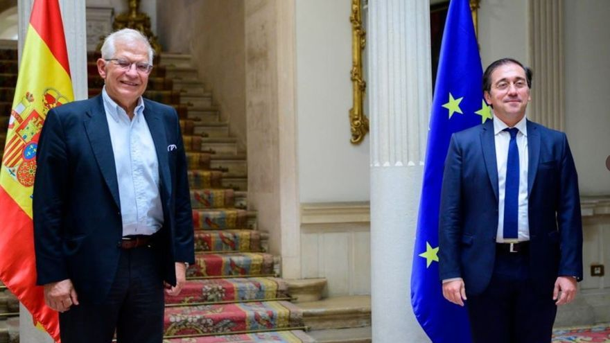 El ministro de Asuntos Exteriores, Unión Europea y Cooperación, José Manuel Albares, se ha reunido este jueves en Madrid con el Alto Representante de la Unión Europea para Asuntos Exteriores y Política de Seguridad, Josep Borrell.