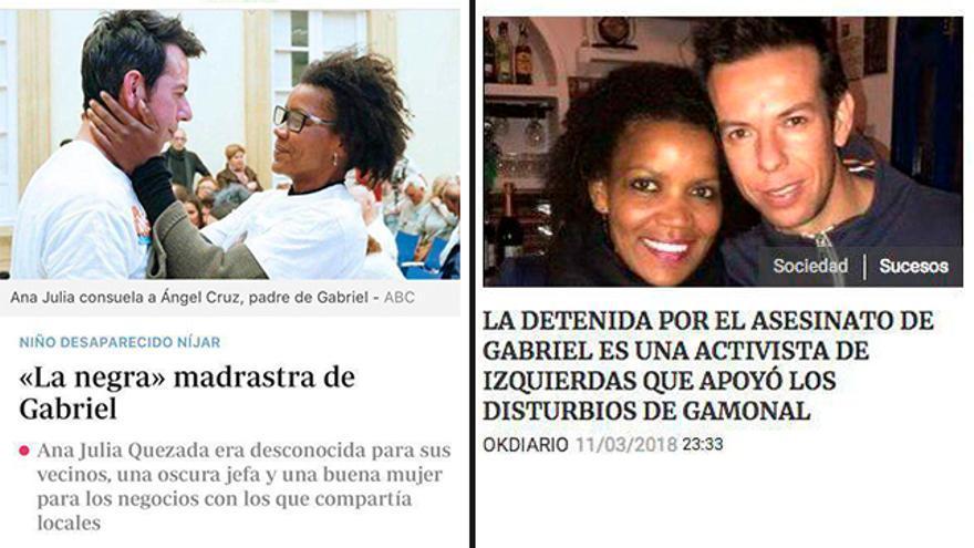 ABC y OkDiario, sobre la presunta asesina de Gabriel