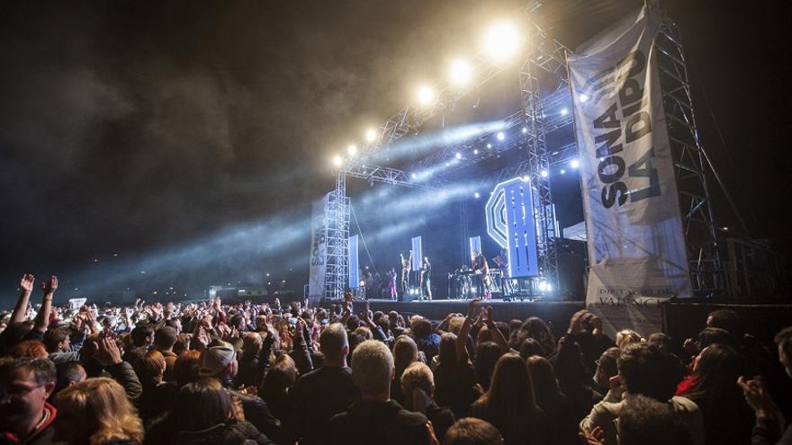 Imagen del concierto de Sona la Dipu en Cullera