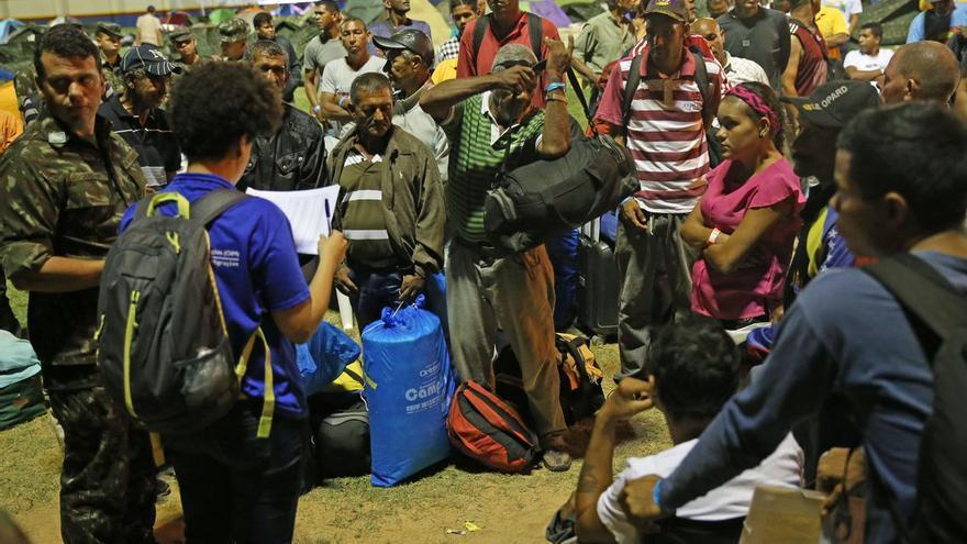 Refugiados venezolanos en el estado brasileño de Roraima. Más de 120.000 han accedido por esa frontera en los últimos 18 meses