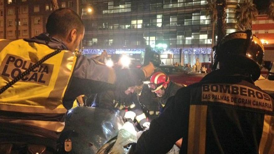 Accidente en la Avenida Marítima con al menos tres heridos. (Foto: Twitter Policía Local)