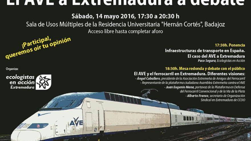 Cartel del foro de debate / Ecologistas en Acción Extremadura
