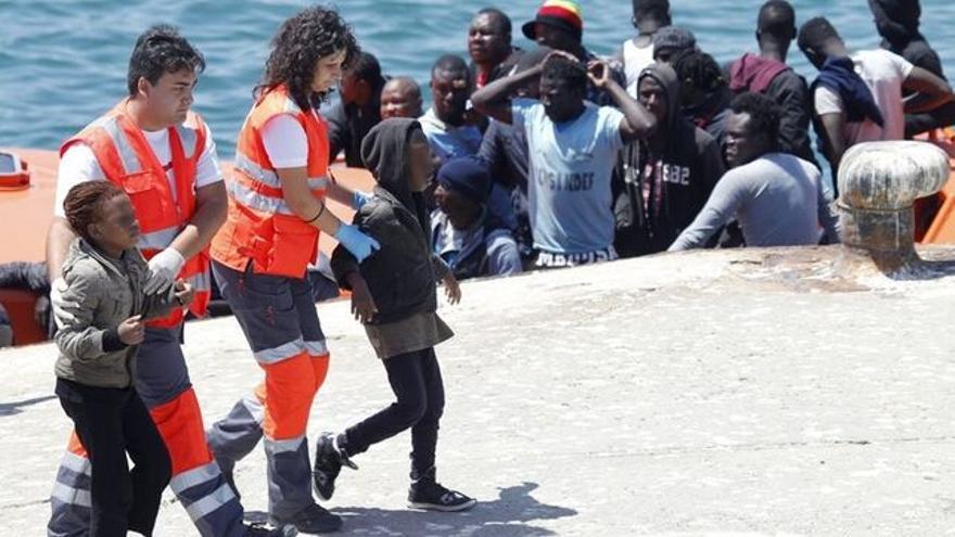 Imagen de archivo de llegada a España de menores inmigrantes.