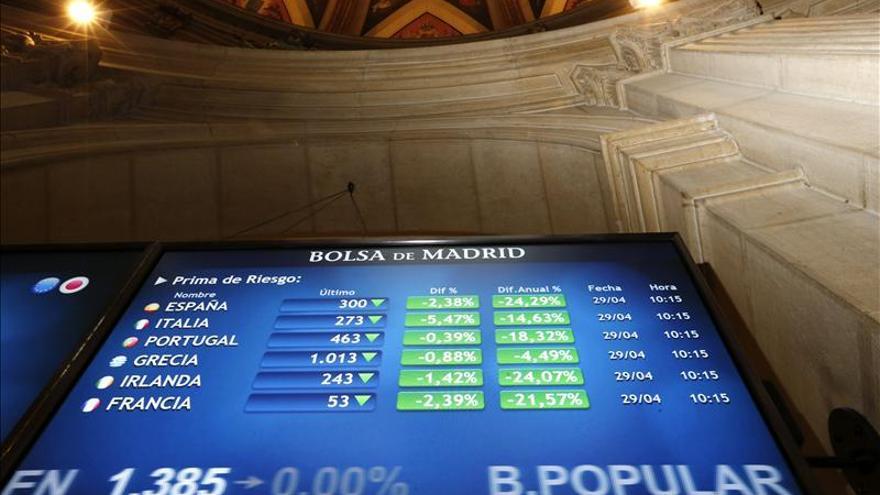 La prima de riesgo de España cae en la apertura a 285 puntos básicos