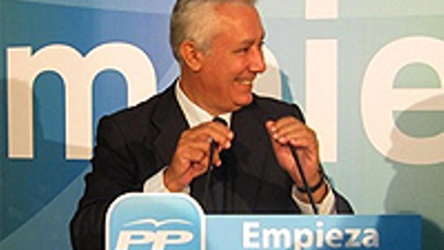 Javier Arenas, con su cuarta derrota a cuestas.