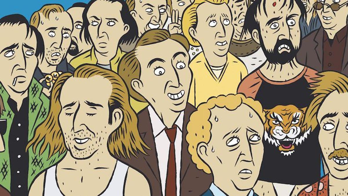 Portada de 'Las 100 primeras películas de Nicolas Cage'. Astiberri.