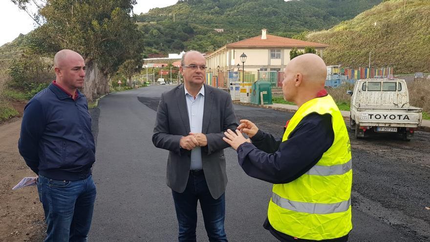 Visita de Anselmo Pestana a las obras.
