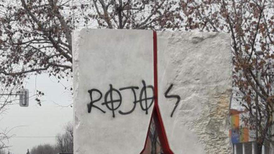 Monumento de las Brigadas Internacionales. Fotografía de la cuenta de Twitter de Agrupación Camilo Cienfuegos