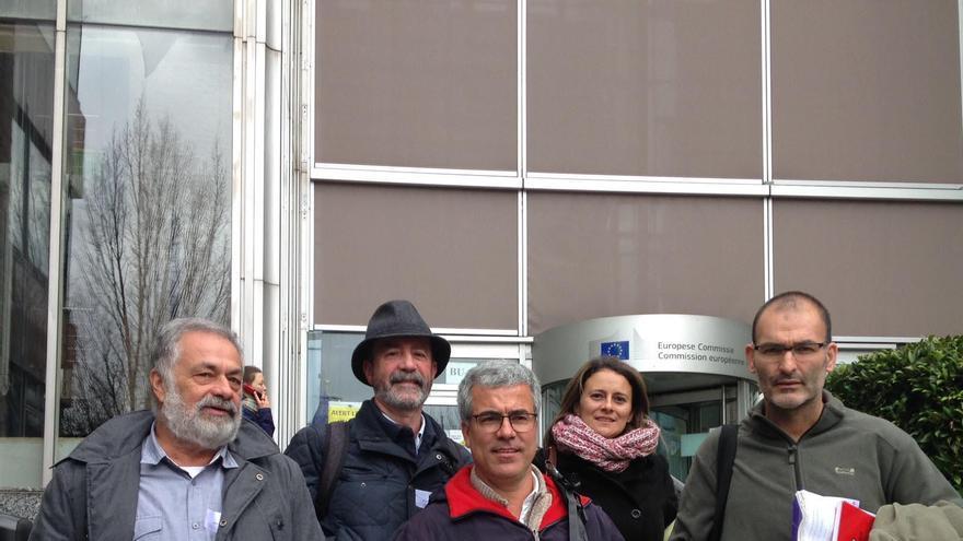Delegación canaria que se entrevistó con la presidenta de la Comisión de Peticiones de la Eurocámara