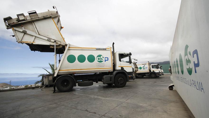 Imagen de una de las plantas de transferencias de residuos del Consorcio Insular de Servicios.