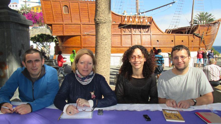Rodrigo Laiz, Conchi Moreno, Laura Martín y Dailos González, de izquierda a derecha. Foto: LUZ RODRÍGUEZ.