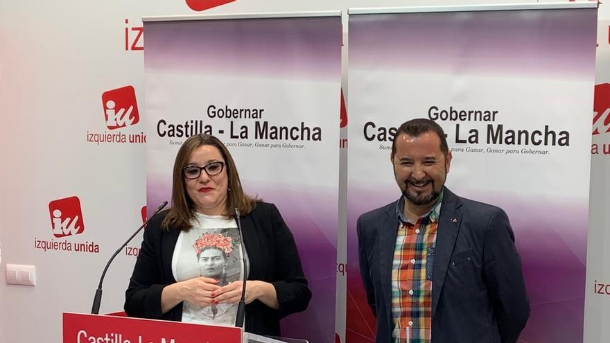 María Díaz (Podemos) y Jorge Vega (IU)