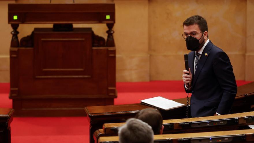 """Aragonès urge a no """"desperdiciar"""" la mayoría a favor de la amnistía y el referéndum"""