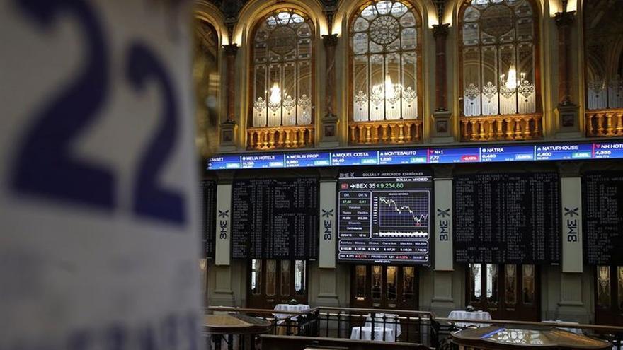 El IBEX 35 baja tras la apertura el 0,11 %, hasta los 9.187 puntos