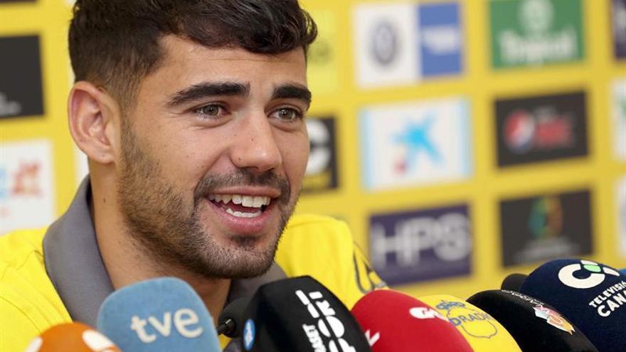 El jugador de la Unión Deportiva Las Palmas Tanausú Domínguez 'Tana'.