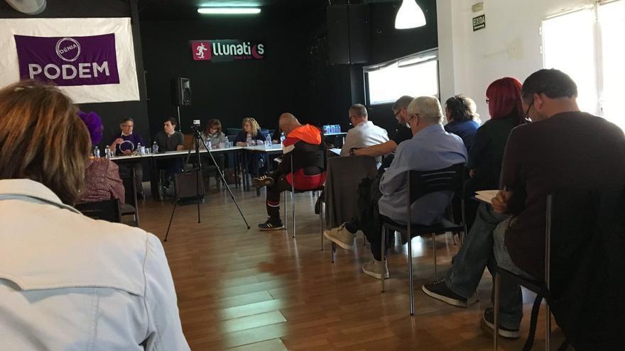 Representantes de las diferentes sensibilidades de Podem protagonizan un debate de ideas en Dénia