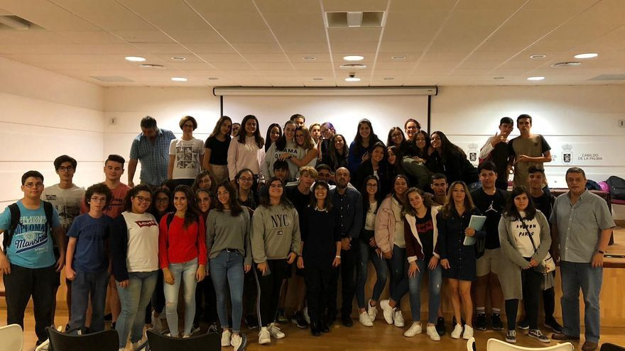 Participantes en el II Ciclo de las Clásicas Tertulias de La Palma.