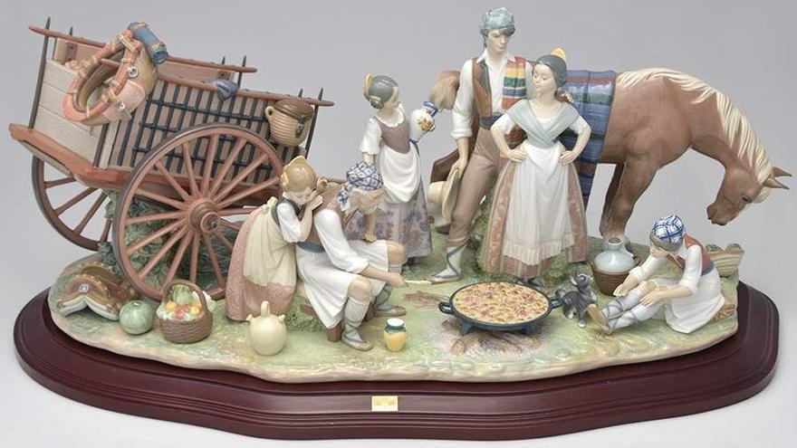 'Alegoría a la paella', figura de Lladró de 1993.