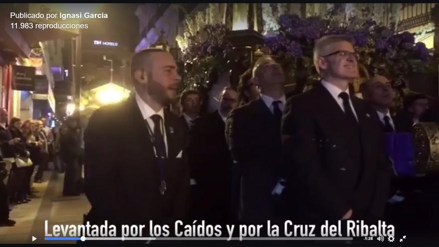 Captura del vídeo compartido en una red social por el concejal del Ayuntamiento de Castellón Ignasi García, de Compromís.
