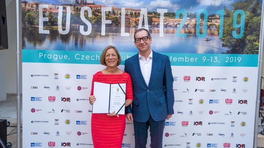 Tomasa Calvo recogió el premio internacional Fellow