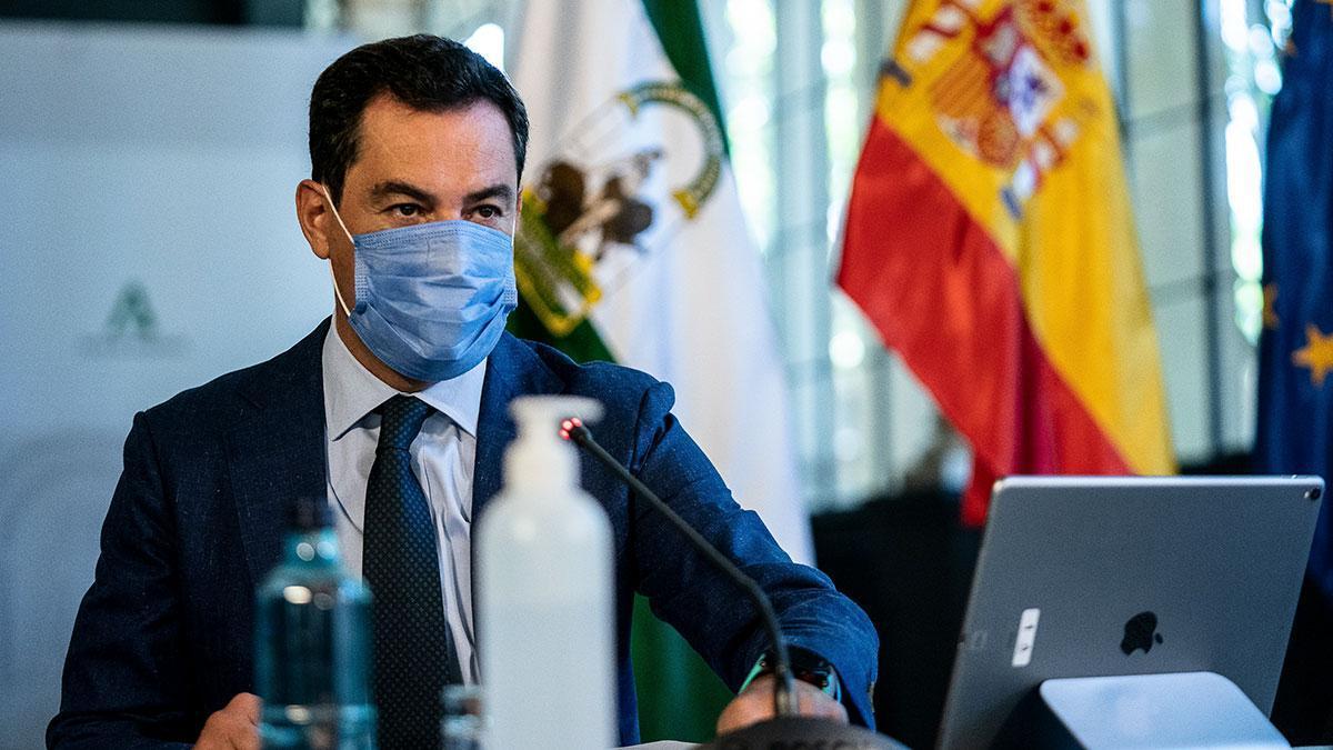 El presidente de la Junta de Andalucía Juanma Moreno
