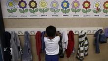 Un alumno en un colegio público.