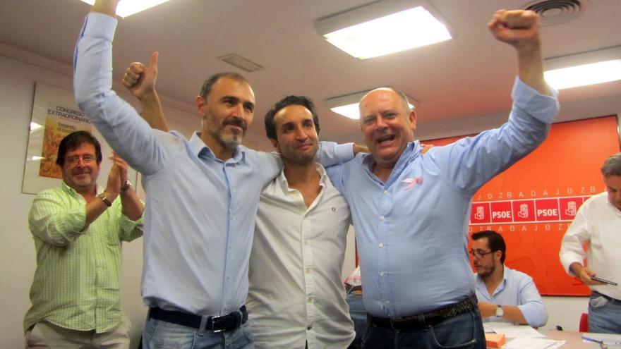 Los tres candidatos de PSOE de Badajoz en las primarias