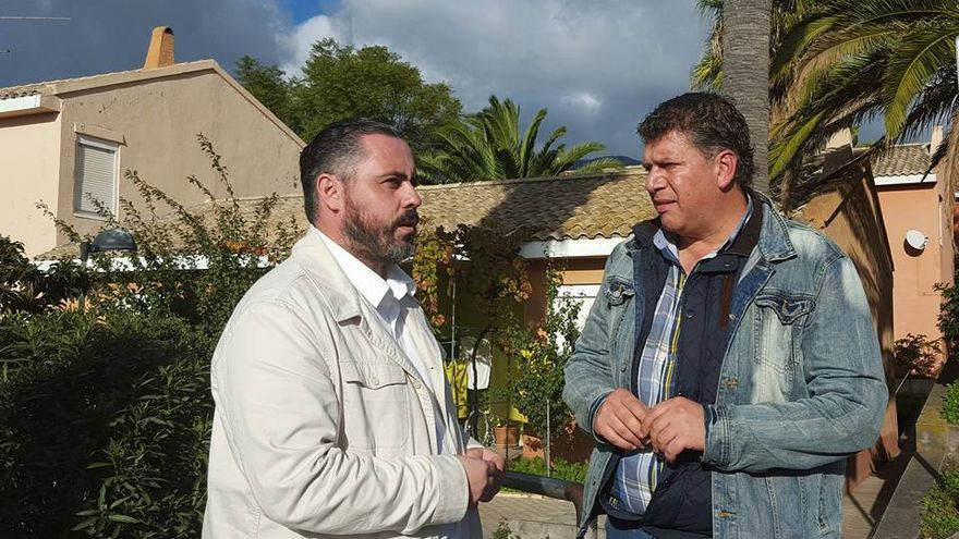 José Gregorio Pérez (i) y Andrés Carmona este lunes.