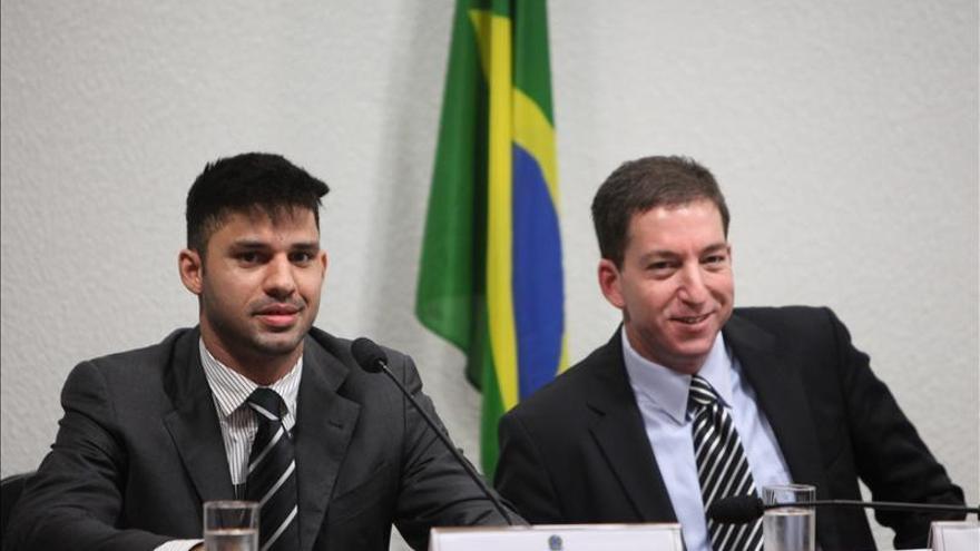 David Miranda y Glenn Greenwald