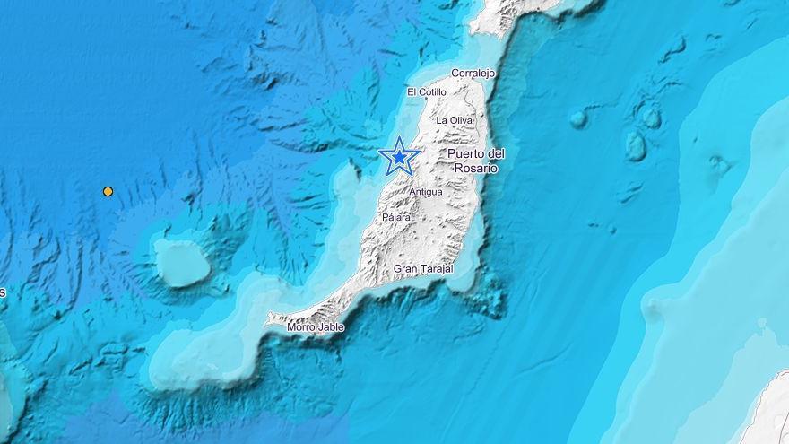 Registrado un terremoto de 2,6 frente a Betancuria