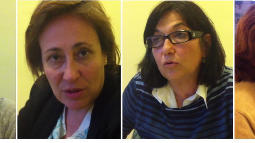 Alma Méijome, Eugenia Gil, Dolores García y Elisa Vizuete.