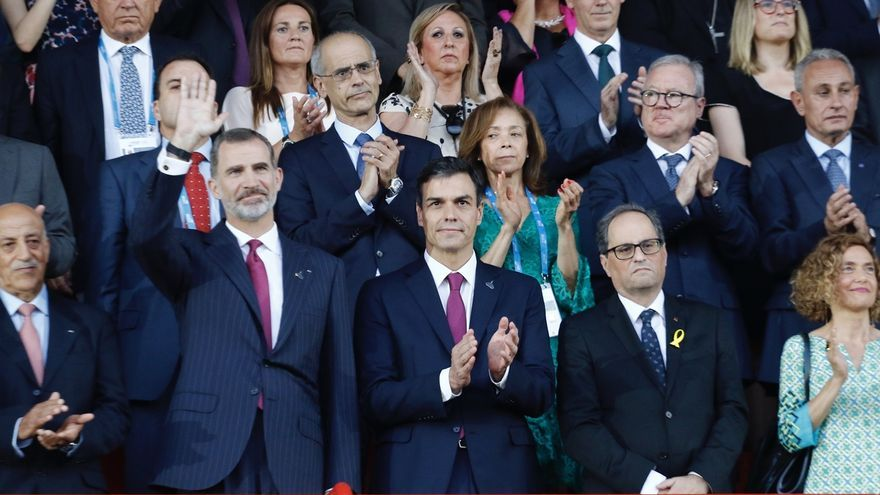 Sánchez y Torra en la inauguración de los Juegos del Mediterráneo