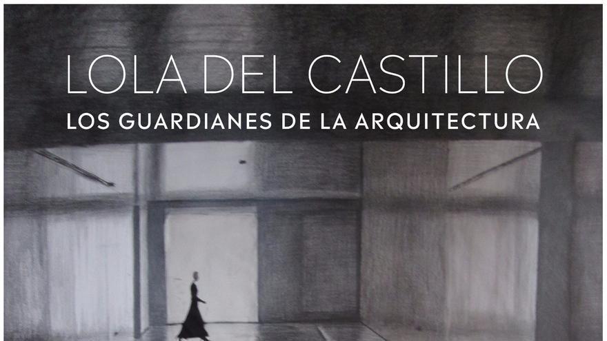 Cartel del montaje con dibujos de Lola del Castillo en la capital tinerfeña