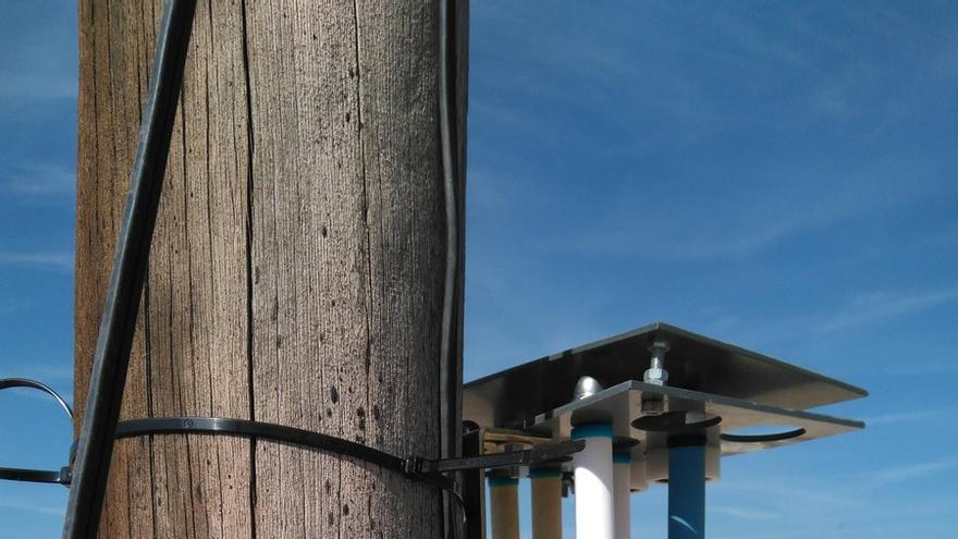 Medidores de calidad del aire instalados por la Generalitat Valenciana en el Grau