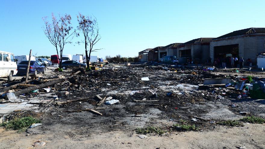 Asentamiento desalojado en El Cavero (Toledo) / JCCM