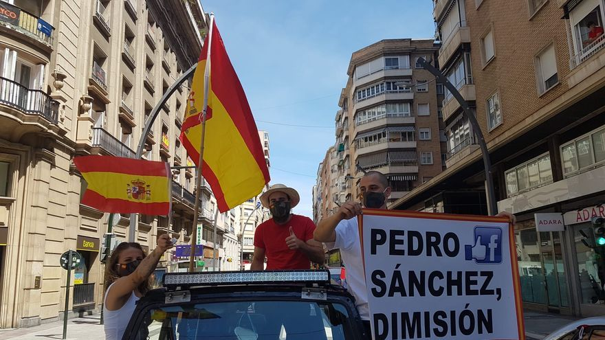 Manifestantes en Murcia