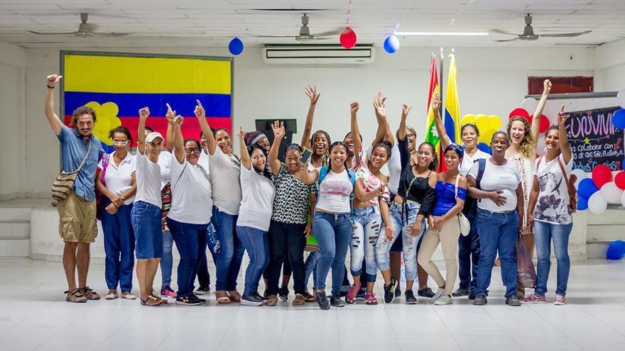 Miembros de Mamachama con el grupo de mujeres de Cartagena. (Mamachama).