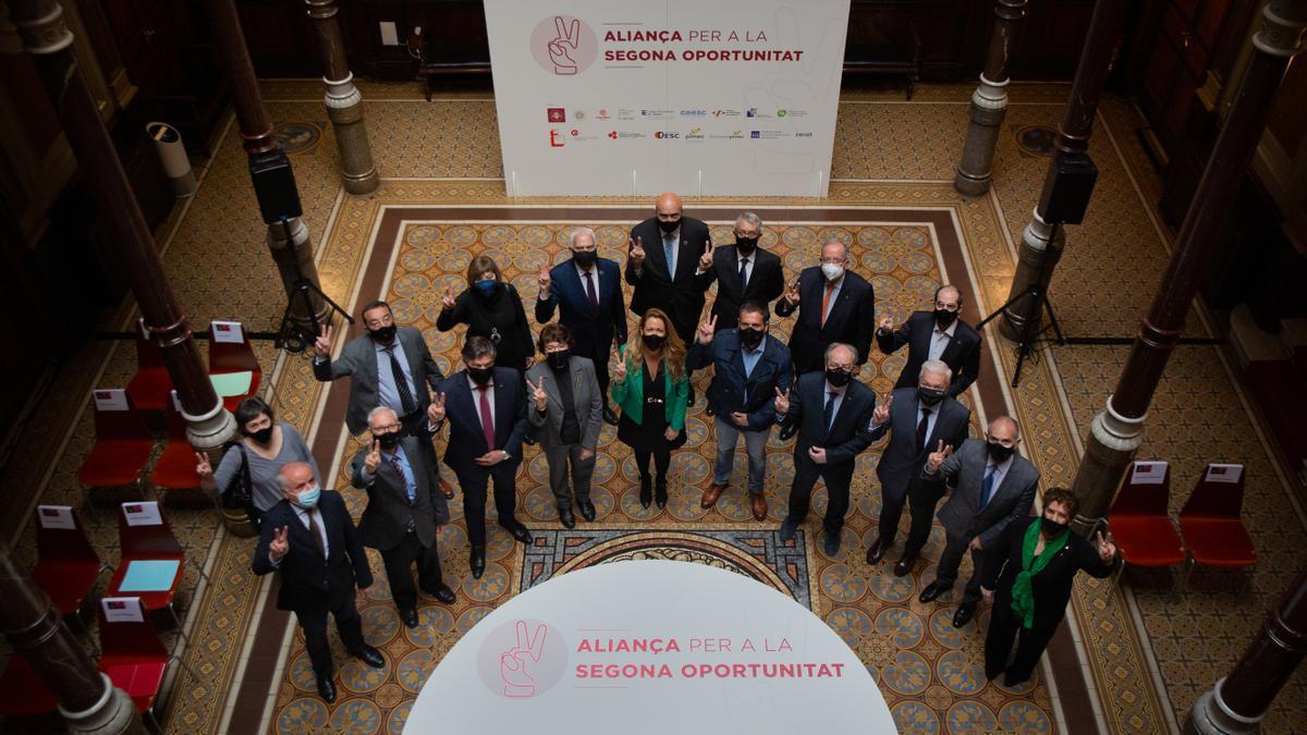 Los promotores de la Aliança per la Segona Oportunidad