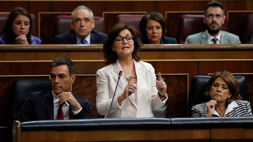 Calvo defiende actuación coordinada del Gobierno en los contratos con Arabia