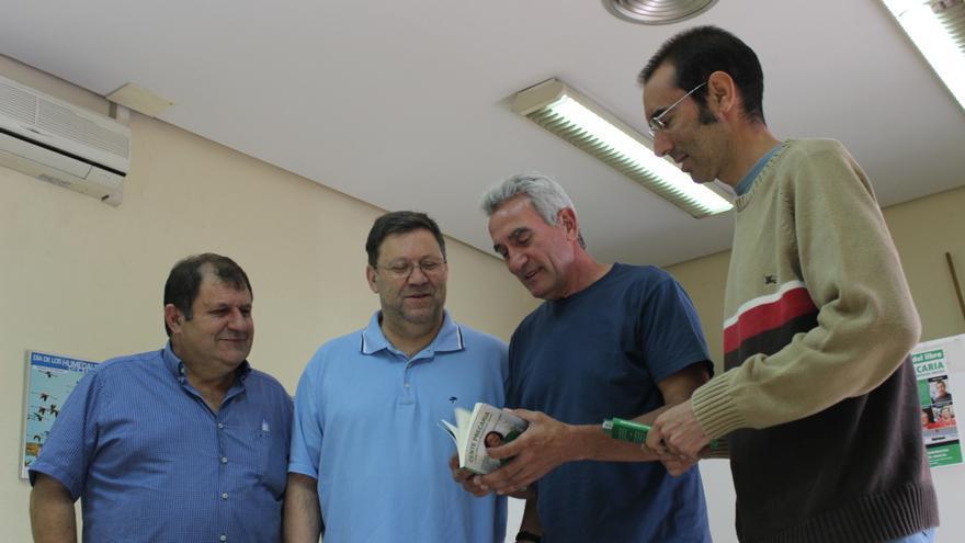 José Coy, Joaquín Sánchez, Diego Cañamero y el autor de 'Gente precaria', Enric Llopis / PSS